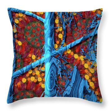 The Summer We Went To Blue Tree Throw Pillow