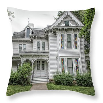 The Summer White House Throw Pillow