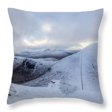 The Summit And Down The Wall Throw Pillow