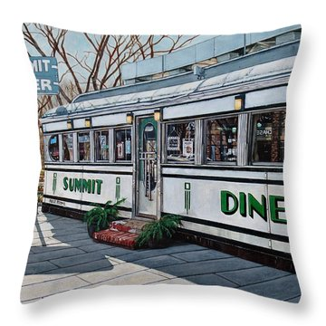 The Summit Diner Throw Pillow
