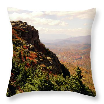 Throw Pillow featuring the photograph The Summit In Fall by Meta Gatschenberger