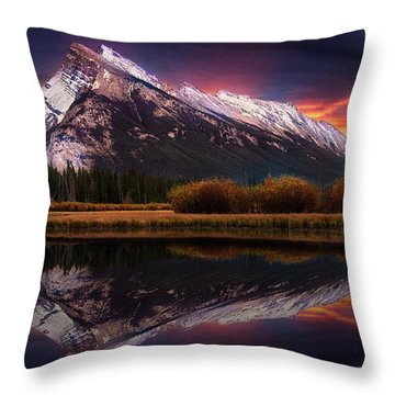 The Sun Also Rises Throw Pillow by John Poon