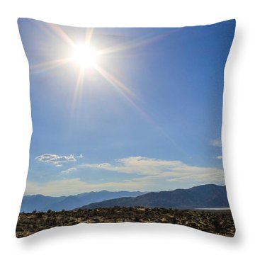 Throw Pillow featuring the photograph The Sun by Break The Silhouette
