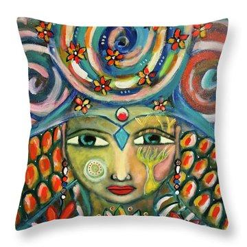 The Sun Goddess  Throw Pillow