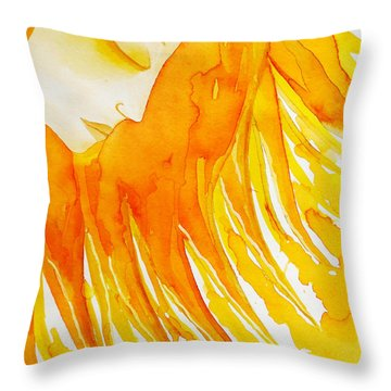 The Sun Goddess Throw Pillow by Jean Fry