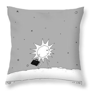 The Sun Going To Work Each Day Throw Pillow
