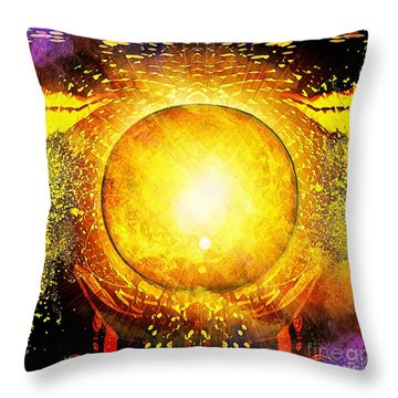 The Sun In Your Hands Throw Pillow