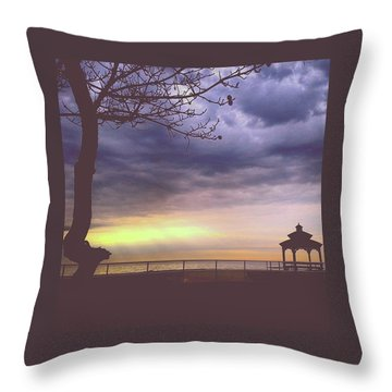 The Sun Is Peeking Through Throw Pillow
