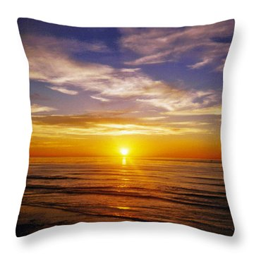 Throw Pillow featuring the photograph The Sun Says Goodnight by Jean Haynes