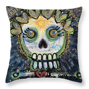 The Sun Still Shines For Our Hearts Throw Pillow by Laurie Maves ART