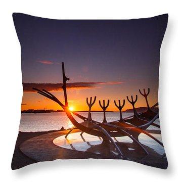 The Sun Voyager Throw Pillow