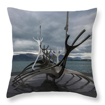 The Sun Voyager, Reykjavik, Iceland Throw Pillow