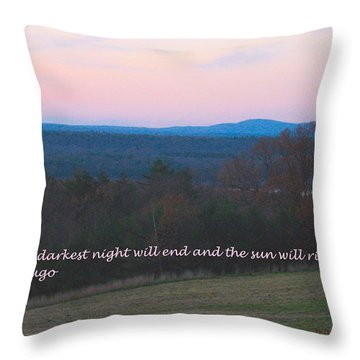 The Sun Will Rise Throw Pillow