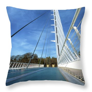 Throw Pillow featuring the photograph The Sundial Bridge by James Eddy