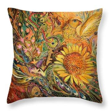 The Sunflower Throw Pillow by Elena Kotliarker