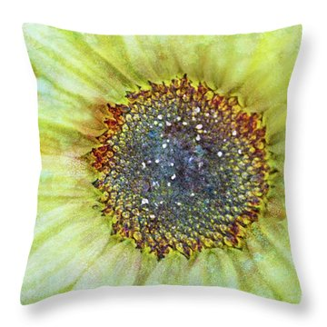 The Sunflower Throw Pillow by Tara Turner