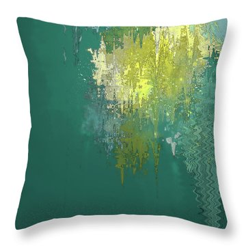 Throw Pillow featuring the digital art The Sunken Cathedral by Gina Harrison