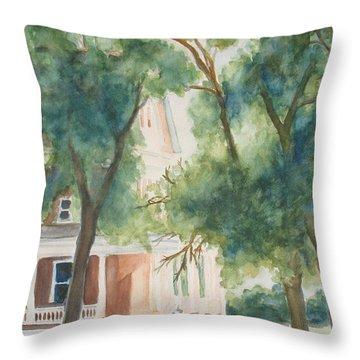 The Sunlit Porch Throw Pillow