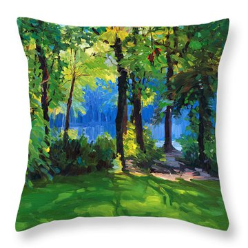 The Sunny Side Of A Pond Throw Pillow