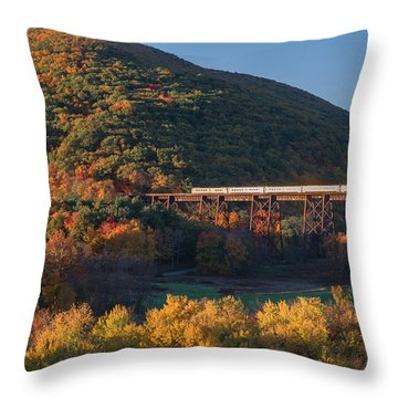 The Sunrise Express Throw Pillow