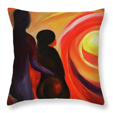 The Sunset Of Our Dreams Throw Pillow by Angel Reyes