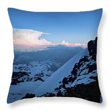 The Sunset Wave Throw Pillow