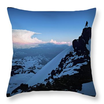 The Sunset Wave Throw Pillow