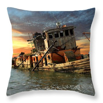 The Sunset Years Of The Mary D. Hume Throw Pillow