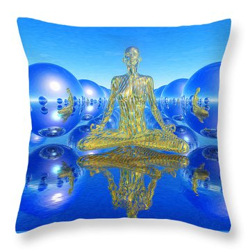 The Superficial Illusion Of Duality Throw Pillow by Robby Donaghey