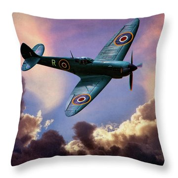 The Supermarine Spitfire Throw Pillow