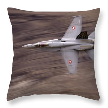 The Supersonic  Throw Pillow by Angel  Tarantella