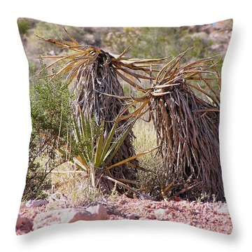 The Survivors At Red Rock Throw Pillow