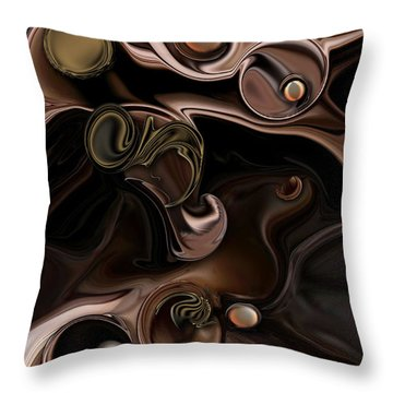 Throw Pillow featuring the digital art The Suspicious Abstraction by Carmen Fine Art