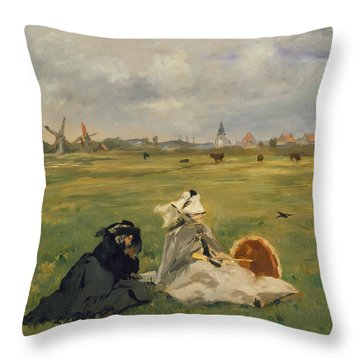 The Swallows Throw Pillow by Edouard Manet