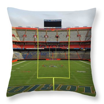 The Swamp Throw Pillow by D Hackett