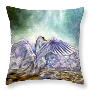 The Swan's Song Throw Pillow