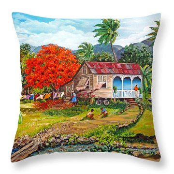 The Sweet Life Throw Pillow by Karin  Dawn Kelshall- Best
