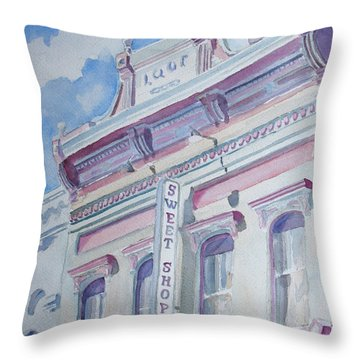 The Sweet Shoppe Throw Pillow by Jenny Armitage