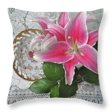 Throw Pillow featuring the photograph The Sweetest Glow by Nancy Lee Moran