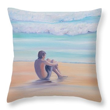 The Swimmer Throw Pillow