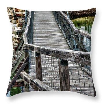 The Swinging Bridge Throw Pillow