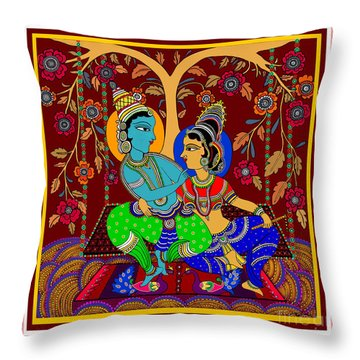The Swinging Passions                         Throw Pillow by Latha Gokuldas Panicker