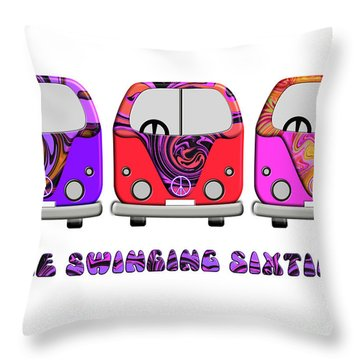 The Swinging Sixties Throw Pillow