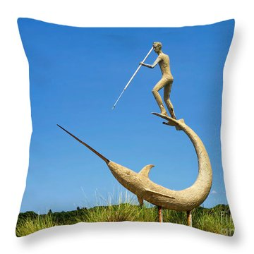 Throw Pillow featuring the photograph The Swordfish Harpooner by Mark Miller