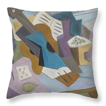 The Table Throw Pillow by Trish Toro
