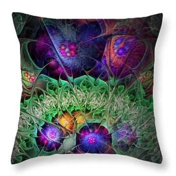 Throw Pillow featuring the digital art The Taiga by NirvanaBlues