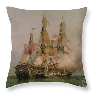 The Taking Of The Kent Throw Pillow by Ambroise Louis Garneray