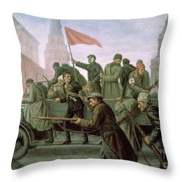 The Taking Of The Moscow Kremlin In 1917 Throw Pillow