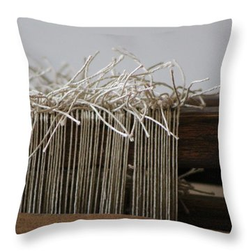 The Tales We Weave In Sepia Photograph Throw Pillow