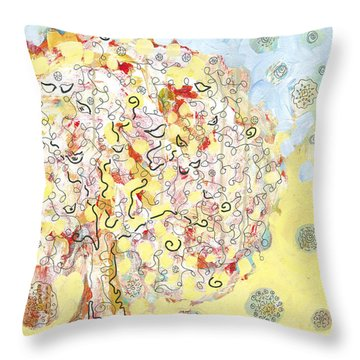 The Talking Tree Throw Pillow